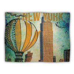 "Kess InHouse iRuz33 ""New York"" Blanket, 60 by 50-Inch"