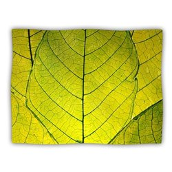"Kess InHouse Robin Dickinson ""Every Leaf a Flower"" Fleece Blanket, 60 by 50-Inch"