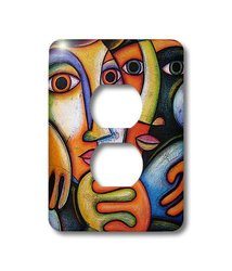lsp_21220_6 Troth Couples Colorful Art Fine Art 2-Plug Outlet Cover
