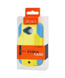 Reiko SLCPC09-HTCH1000YLNV Silicone Case/Protector Cover for HTC Desire C H1000C - Retail Packaging - Yellow/Navy