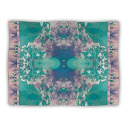 "Kess InHouse Nina May ""Ashby Blossom Teal"" Fleece Blanket, 60 by 50-Inch"