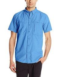 White Sierra Men's Kalgoorlie II Short Sleeve Shirt - Deep Water - Size: L