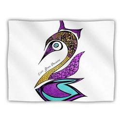 "Kess InHouse Pom Graphic Design ""Dreams Swan"" Fleece Blanket"