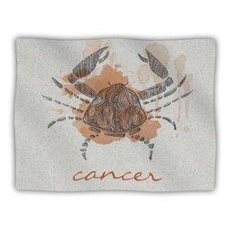 "Kess InHouse Belinda Gillies ""Cancer"" Blanket, 60 by 50-Inch"