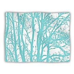 """Kess InHouse Monika Strigel """"Mint Trees"""" Fleece Blanket, 60 by 50-Inch"""