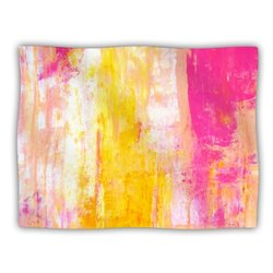 "Kess InHouse CarolLynn Tice ""Growing Taller Pink Yellow"" Blanket, 60 by 50-Inch"