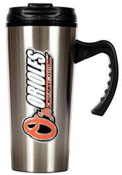 MLB Baltimore Orioles 16-Ounce Stainless Steel Travel Mug