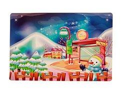 Indian Handicrafts Vinyl Placemats, Winter Wonderland, Set of 12