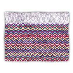 "Kess InHouse Pom Graphic Design ""Horizons II"" Fleece Blanket, 60 by 50-Inch"