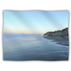 "Kess InHouse Robin Dickinson ""Sand Surf Sunshine"" Beach Fleece Blanket, 60 by 50-Inch"