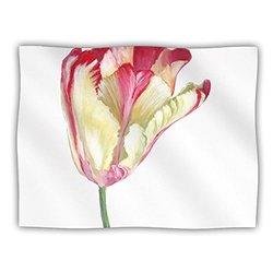 "Kess InHouse Lydia Martin ""Red Tip Tulip"" Fleece Blanket, 60 by 50-Inch"