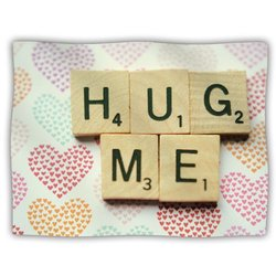 "Kess InHouse Cristina Mitchell ""Hug Me Heart Text"" Blanket, 60 by 50-Inch"