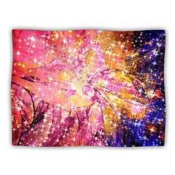 "Kess InHouse Ebi Emporium ""Out There Pink Yellow"" Blanket, 60 by 50-Inch"