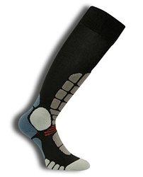 Eurosocks Digits Ski Silver Sock, Black, X-Large