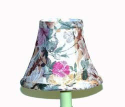 A Ray Of Light ROSEPK2 Rose Pattern Silk Chandelier Shade with Silk Self Trim, 2-Set