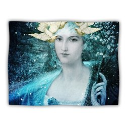 "Kess InHouse Suzanne Carter ""Adorned"" Blue Fleece Blanket, 60 by 50-Inch"