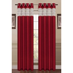 "Bella Luna Extra Wide Grommet Curtain Panel 54"" x 84"" - Burgundy"