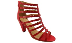 NY VIP Women's High Heeled Sandals - Red - Size: 10