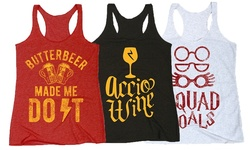 LC Women's Wizards & Magic Tanks - Butterbeer Made Me Do It - Size: L