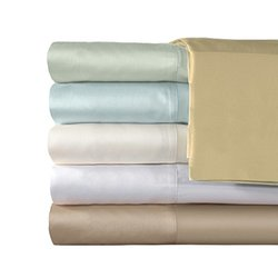 Exquisite Hotel 600TC Egyptian Cotton Sheet Set 4 Piece - Blue - Size: Q