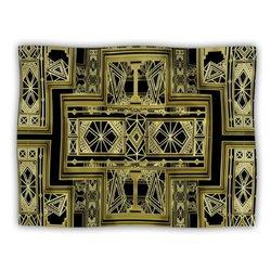 "Kess InHouse Nika Martinez ""Golden Art Deco"" Fleece Blanket, 60 by 50-Inch"
