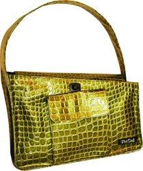 PuchiBag PetSak Bucket Tote Bag, Green Croc