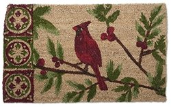 "Tag 204860 Cardinal Coir Mat, 30 x 18"", Red/Green"