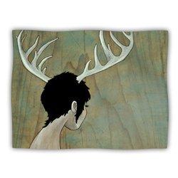 "Kess InHouse Jaidyn Erickson ""Antlers"" Blanket, 60 by 50-Inch"