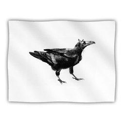 """Kess InHouse Sophy Tuttle """"Raven"""" Fleece Blanket, 60 by 50-Inch"""
