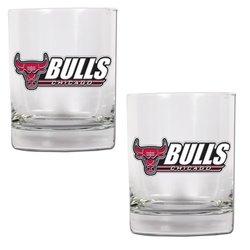 NBA Chicago Bulls Two Piece Rocks Glass Set