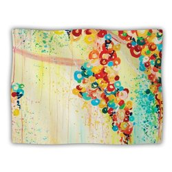 "Kess InHouse Ebi Emporium ""Summer in Bloom"" Blanket, 60 by 50-Inch"