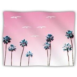 "Kess InHouse Bree Madden ""Pink Cali"" Blanket, 60 by 50-Inch"