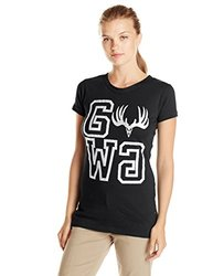 GWG: Girls With Guns Women's Buck Squared Tee, Large, Black
