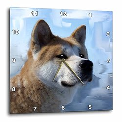 dpp_4171_1 Akita Portrait Wall Clock, 10 by 10-Inch
