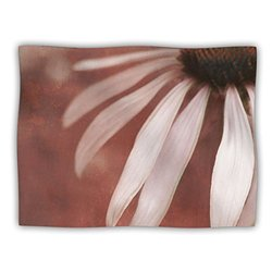 "Kess InHouse Iris Lehnhardt ""Copper and Pale Pink Brown Flower"" Blanket, 60 by 50-Inch"