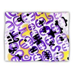 "Kess InHouse Theresa Giolzetti ""Theodora's Attitude"" Purple Gold Fleece Blanket, 60 by 50-Inch"