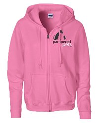 Women's 8oz Heavy Blend Full Zippered Hoodie Sweatshirt - Azalea - Size: M