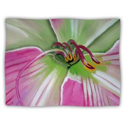 "Kess InHouse Cathy Rodgers ""Pink and Green Flower"" Blanket, 60 by 50-Inch"
