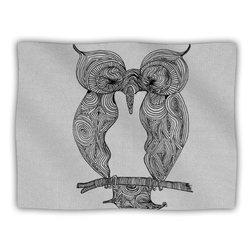 """Kess InHouse Belinda Gillies """"Owl"""" Blanket, 60 by 50-Inch"""