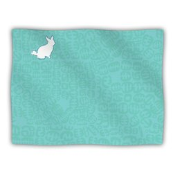 "Kess InHouse Theresa Giolzetti ""Oliver"" Teal Fleece Blanket, 60 by 50-Inch"