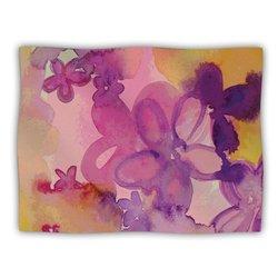 """Kess InHouse Louise Machado """"Dissolved Flowers"""" Fleece Blanket, 60 by 50-Inch"""