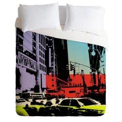 Deny Designs Amy Smith NY Street 1 Duvet Cover - Size: King