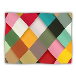 """Kess InHouse Danny Ivan """"Colorful"""" Blanket, 60 by 50-Inch"""