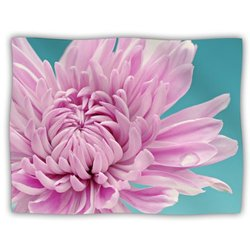 "Kess InHouse Nastasia Cook ""Purple Dream"" Pink Flower Fleece Blanket, 60 by 50-Inch"