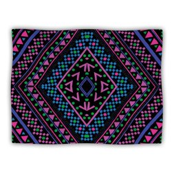"Kess InHouse Nika Martinez ""Neon Pattern"" Fleece Blanket, 60 by 50-Inch"