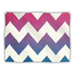 "Kess InHouse Catherine McDonald ""Fade to Blue Chevron"" Blanket, 60 by 50-Inch"