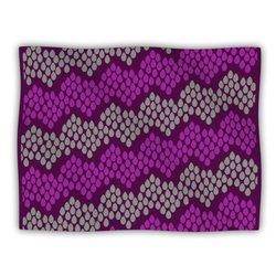 "Kess InHouse Deepti Munshaw ""Pattern No.2 Chevron Purple"" Blanket, 60 by 50-Inch"