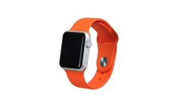 Silicone Sport Replacement Apple Watch Band - Orange - Size: 42mm