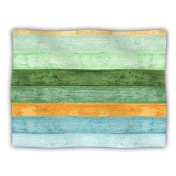 """Kess InHouse Monika Strigel """"Beach Wood Blue"""" Fleece Blanket"""