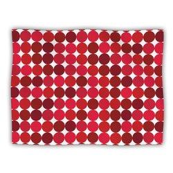 "Kess InHouse KESS Original ""Noblefur Red"" Dots Fleece Blanket, 60 by 50-Inch"